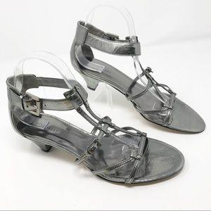 Nine West HULLABOO Strapy Heeled Sandals sz 9 1/2